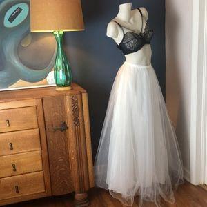 Vintage Tulle Petticoat Maxi Skirt